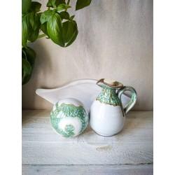 polikala.com ceramika z Krety, Laventzakis ceramics, kolor: złota zieleń