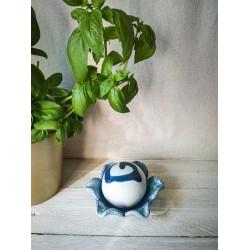 polikala.com ceramika z Krety, Laventzakis ceramics, kolor: błękit z bielą