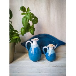 polikala.com ceramika z Krety, Laventzakis ceramics, kolor: błękit i biel