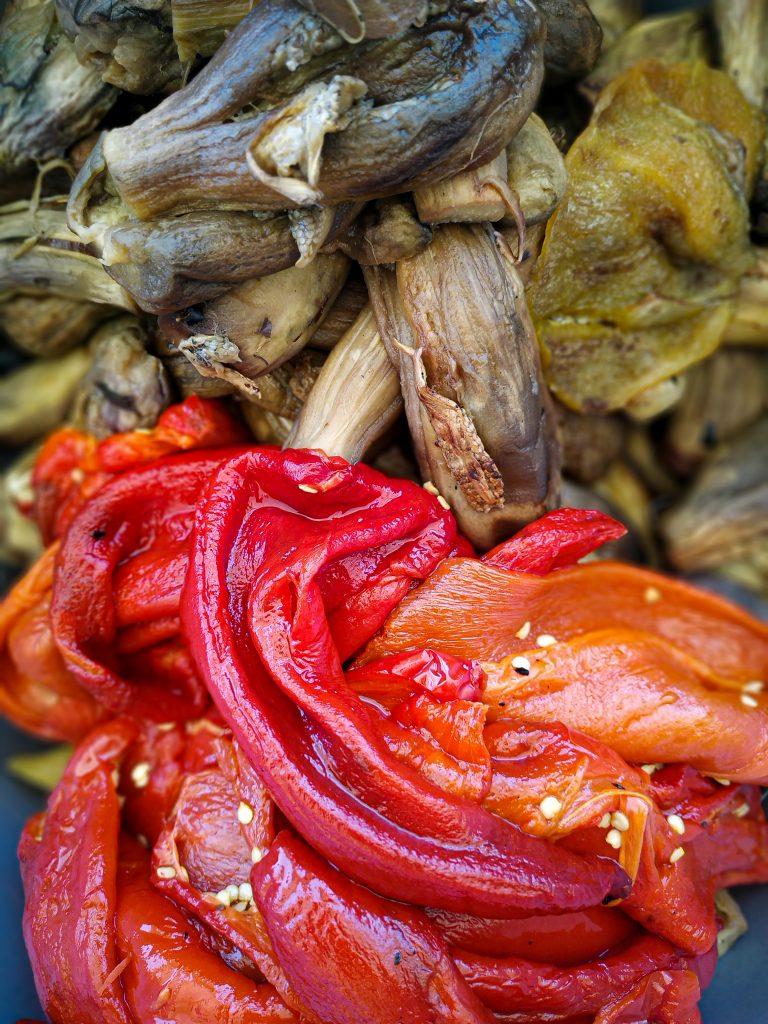 polikala saltsa melintzanas pasta z bakłażana i papryki do słoików