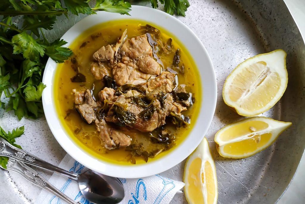 polikala hirino me selino wieprzowina z selerem po grecku
