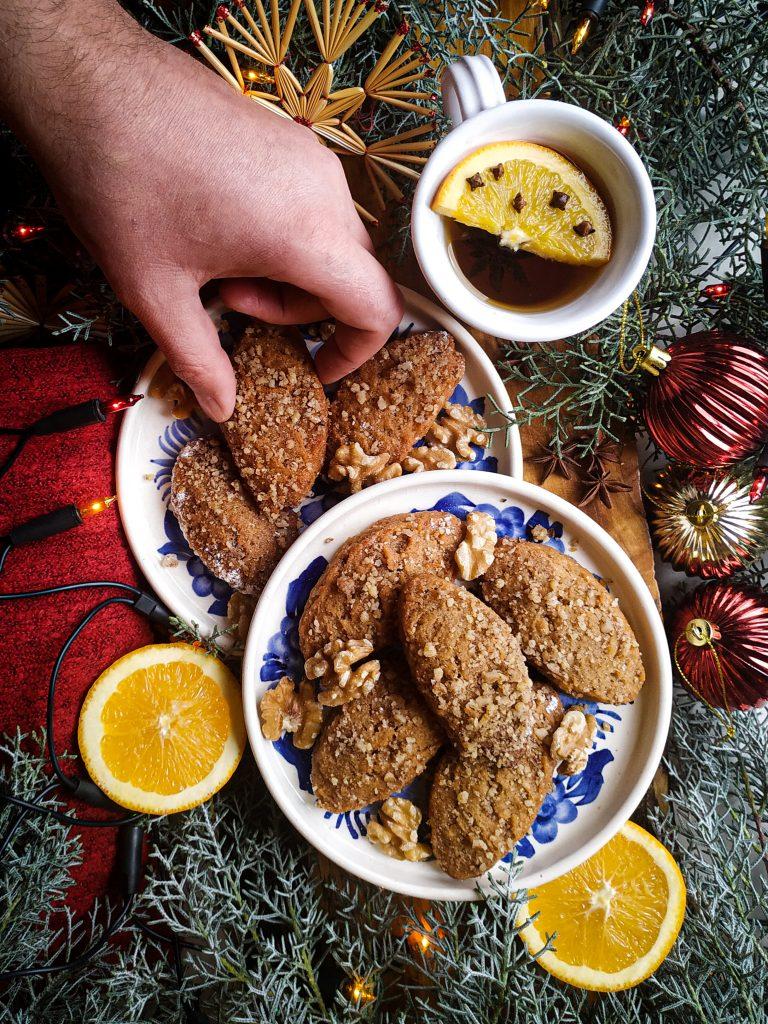 polikala melomakarona ciasteczka greckie na boże narodzenie ciasteczka bożonarodzeniowe