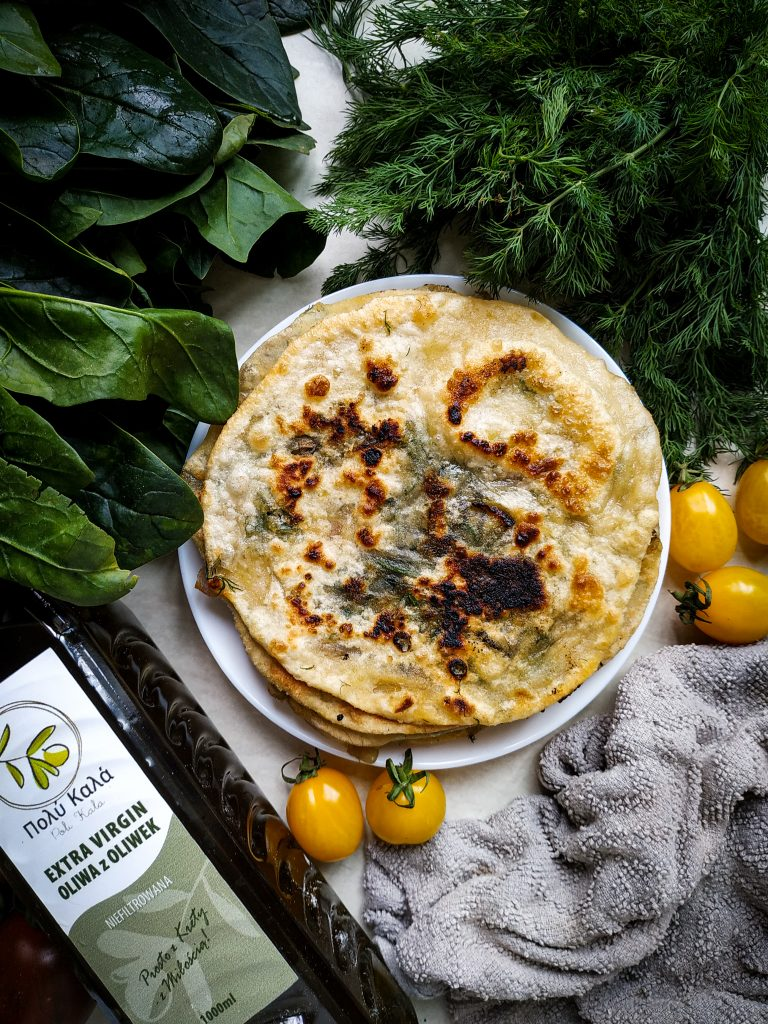 polikala marathopita pita placki z koprem włoskim