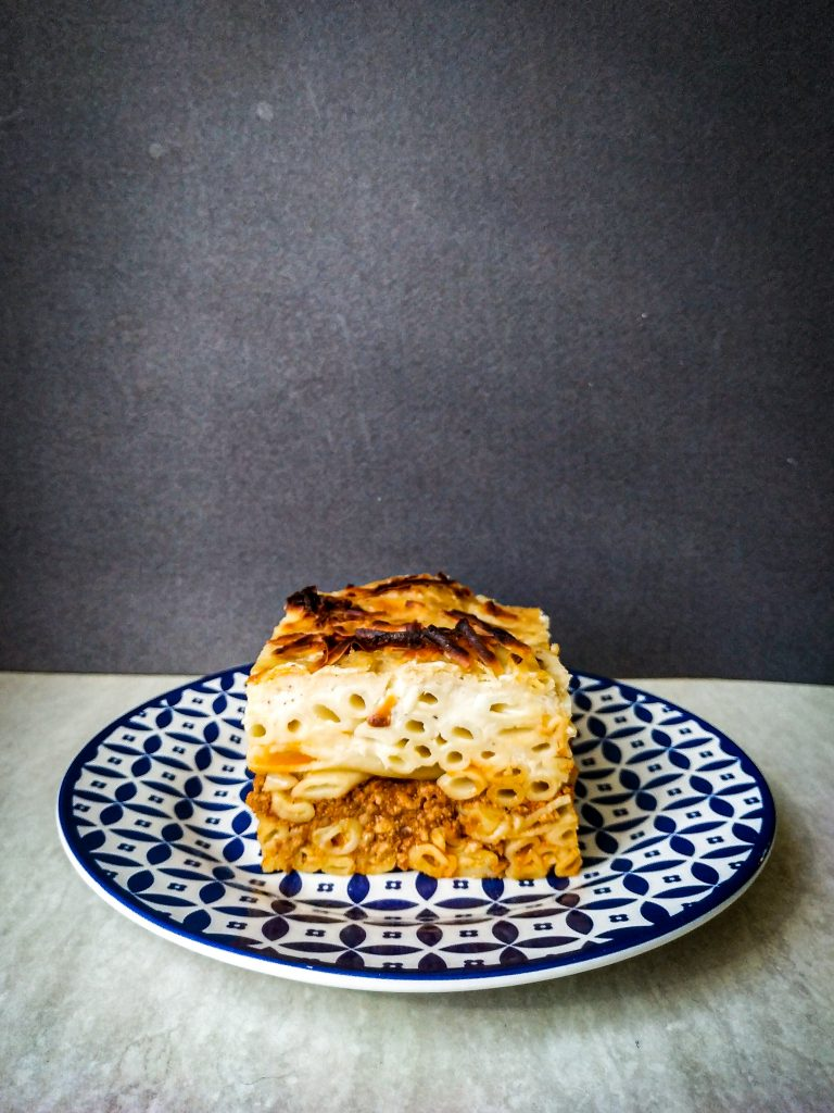 polikala pastitsio pasticio grecka zapiekanka z makaronu mięsa mielonego i beszamelu